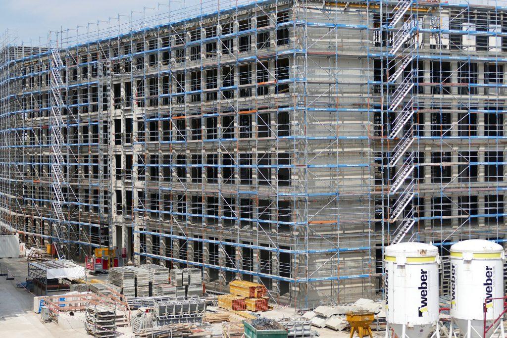 Baulohn Lohnabrechnung Gerüst Großgebäude